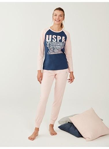 U.S. Polo Assn. Pijama Takım Pembe